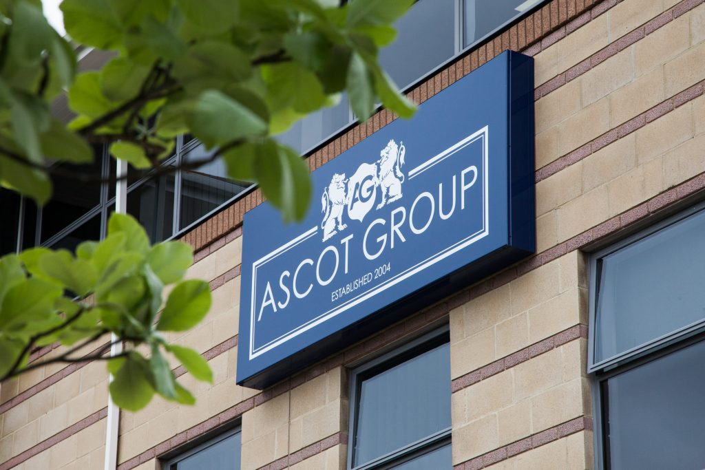blue Ascot Group sign
