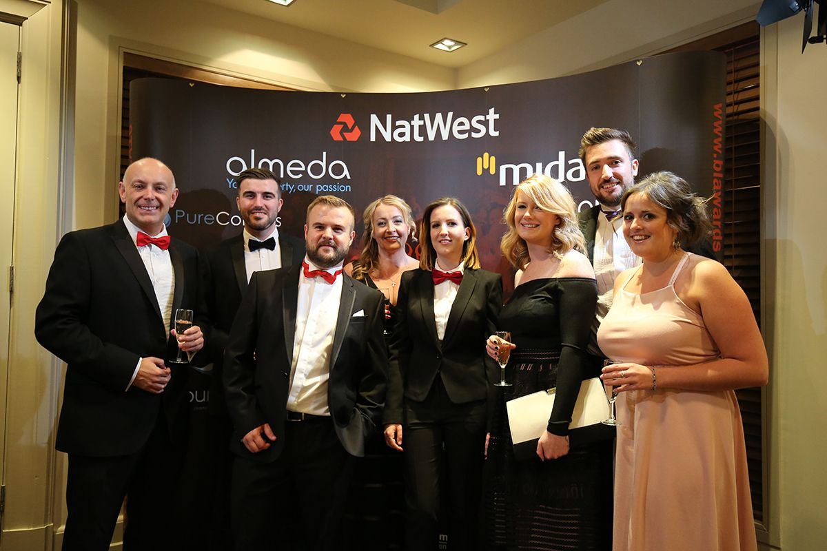 A team photo taken at the Business Leader Awards 2016